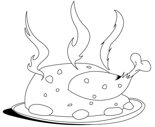 Pollo al horno dibujo - Imagui