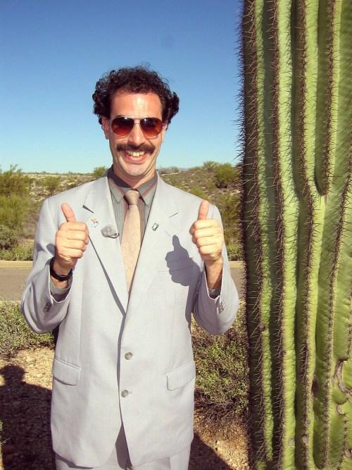 """El actor es una de las escenas de """"Borat""""."""